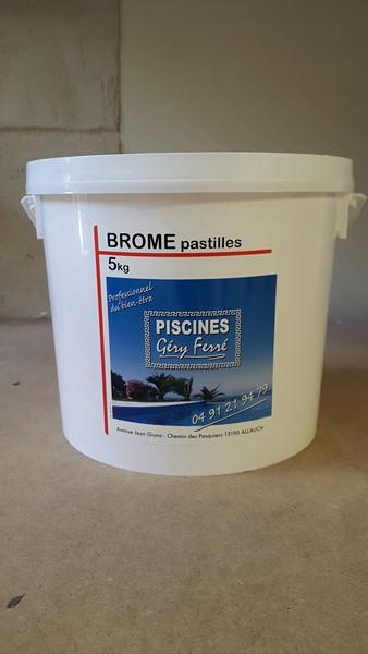 Brome lent pastilles 20g ferr piscines 5kg le magasin for Brome piscine prix