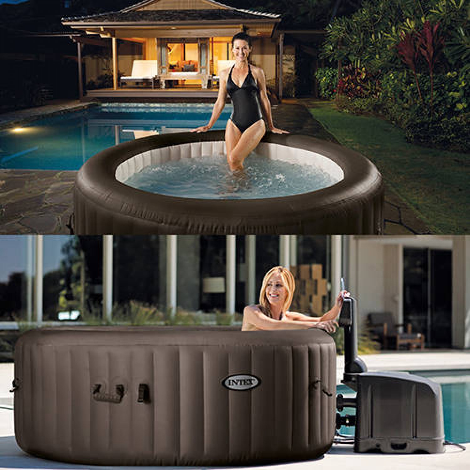 Hivernage Spa Intex Great Intex Spa Gonflable Purespa Rond Bulles