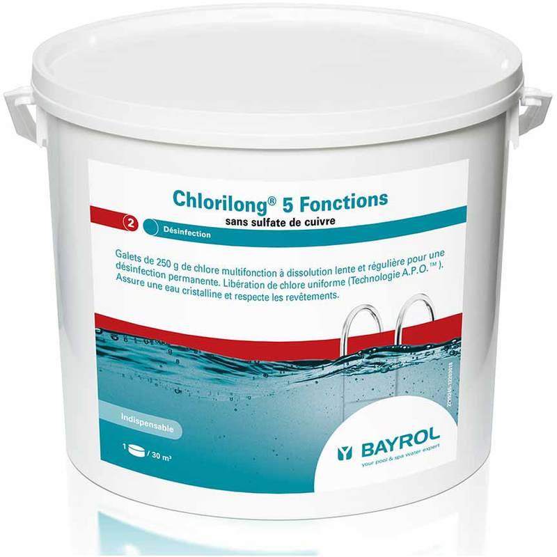 CHLORE 5 FONCTIONS CHLORILONG 5KG 250G