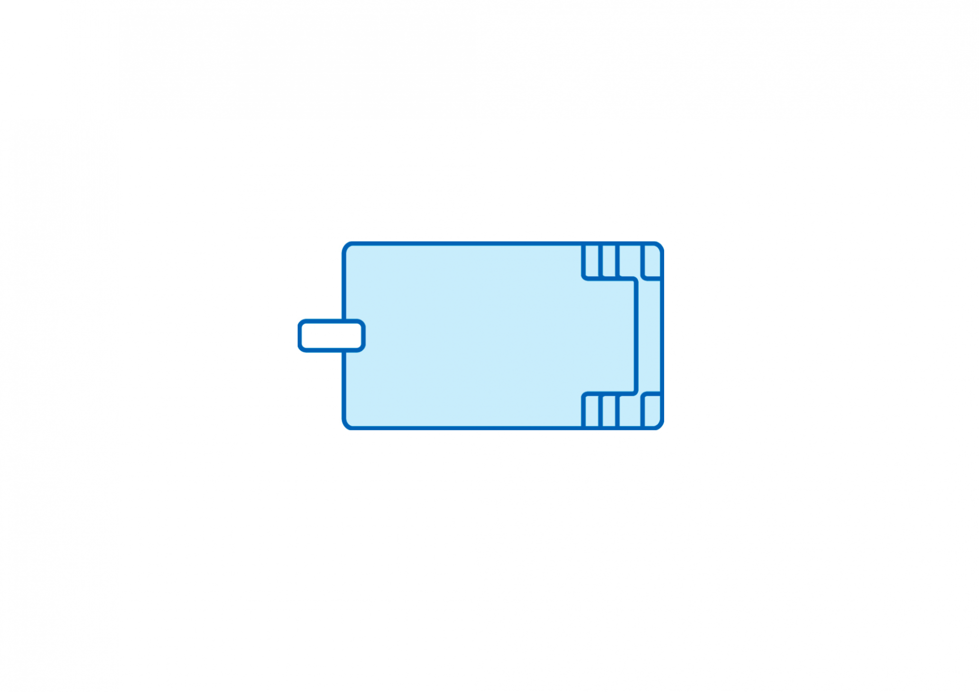 Piscine avec bloc filtrant AXEO 570
