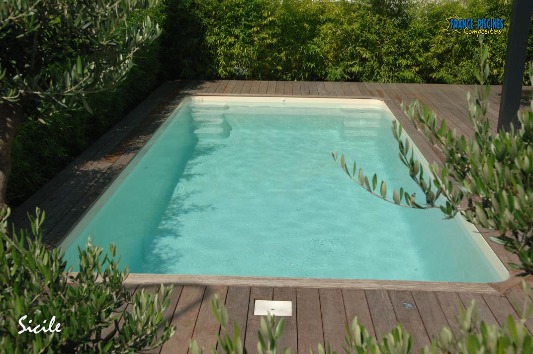Piscine kit coque polyester sicile france piscines for Piscine coque kit