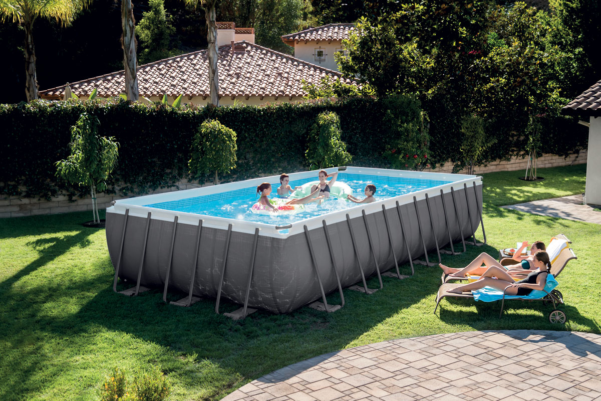 piscine tubulaires rectangulaires ultra silver intex