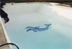 Pose d'un PVC armé 150/100° dans votre piscine sur Allauch, Marseille, Aubagne...